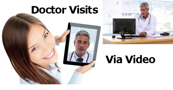 Book a doctor visit via video